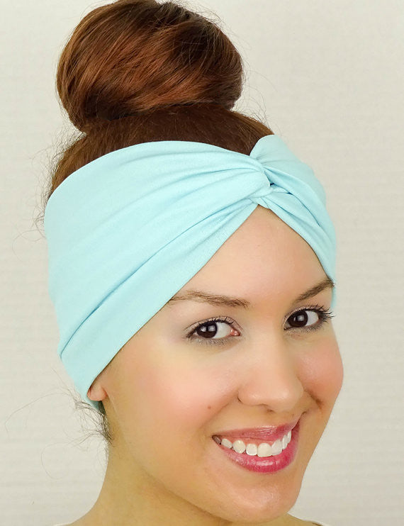 Moon Shadow Turban Headband (Sky Blue)-Accessories-Indie Boho Boutique