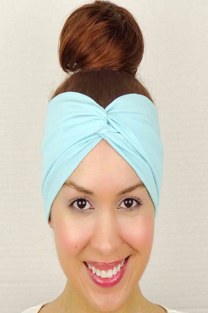 Moon Shadow Turban Headband (Sky Blue) - Indie Boho Boutique