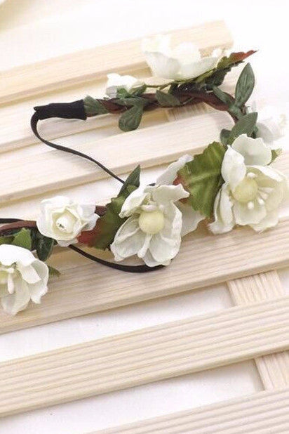 White Flower Crown - Indie Boho Boutique