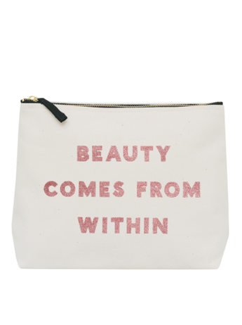Beauty Comes From Within Natural Wash Bag - Fabulous Boutique Online