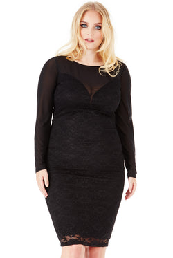 Fab Curve Lace Midi Dress - Fabulous Boutique Online