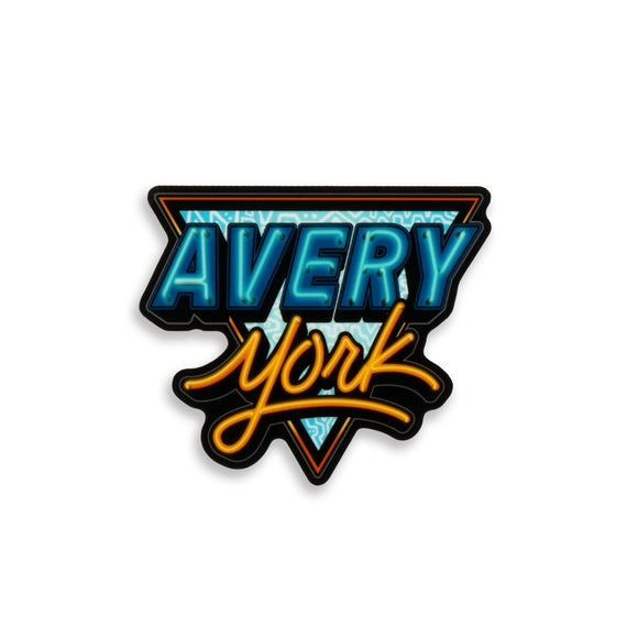 Avery York - Neon Sticker