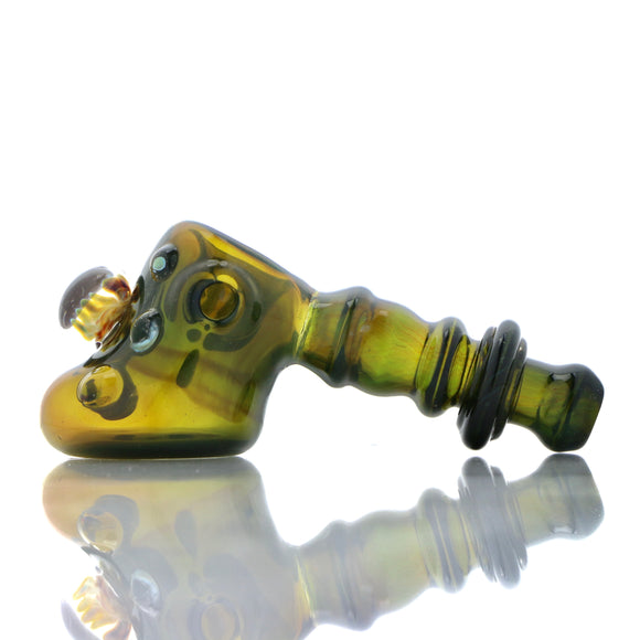 PMACK Glass - Worked Dry Hammer Pipe