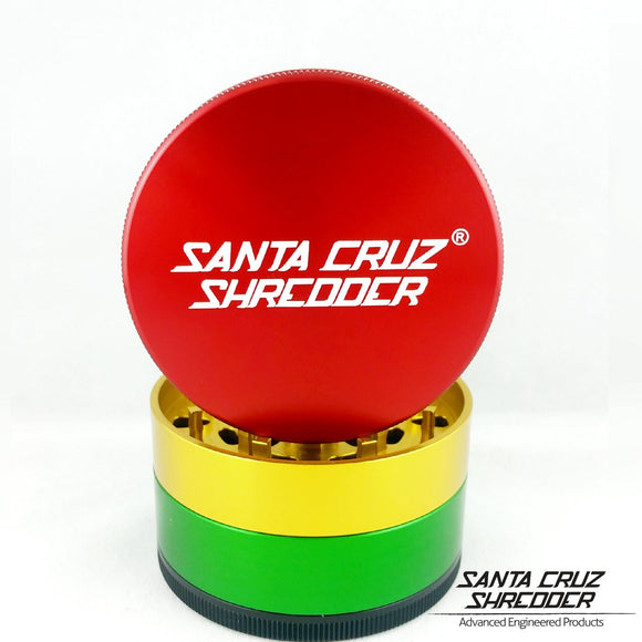 Santa Cruz Shredder - Large 4 Piece Grinder | Rasta