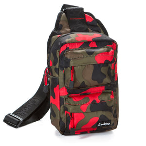 Cookies - Rack Pack Shoulder Sling Bag | Red Camo