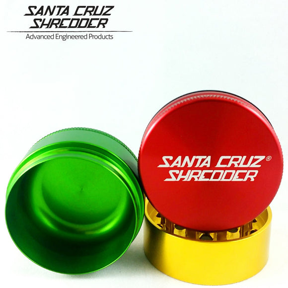 Santa Cruz Shredder - Medium 3 Piece Grinder | Rasta
