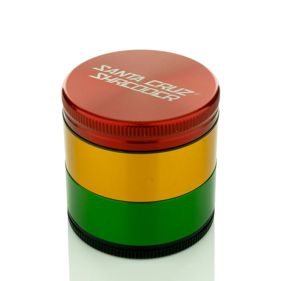Santa Cruz Shredder - Medium 4 Piece Grinder | Rasta