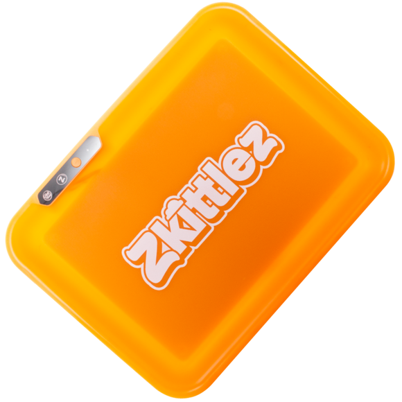 Zkittlez - LED Glow Rolling Tray | Orange