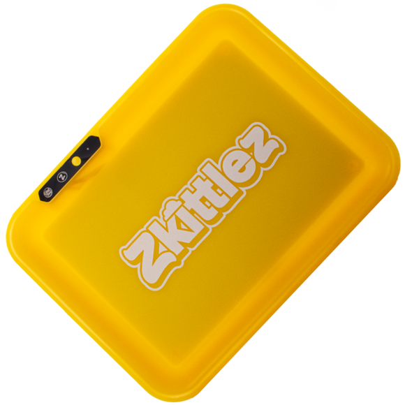 Zkittlez - LED Glow Rolling Tray | Yellow