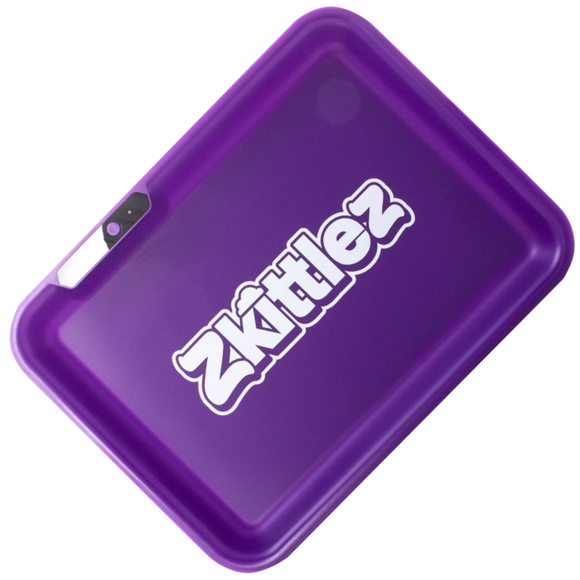 Zkittlez - LED Glow Rolling Tray | Purple