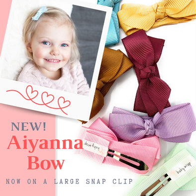 Introducing our Aiyanna Bow - Now on a Large Snap Clip!