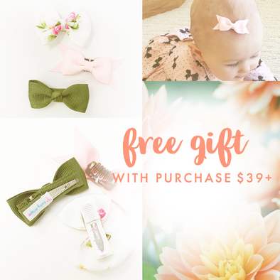 Spring Baby Bow Toddler Bow Set FREE with Purchase $39+