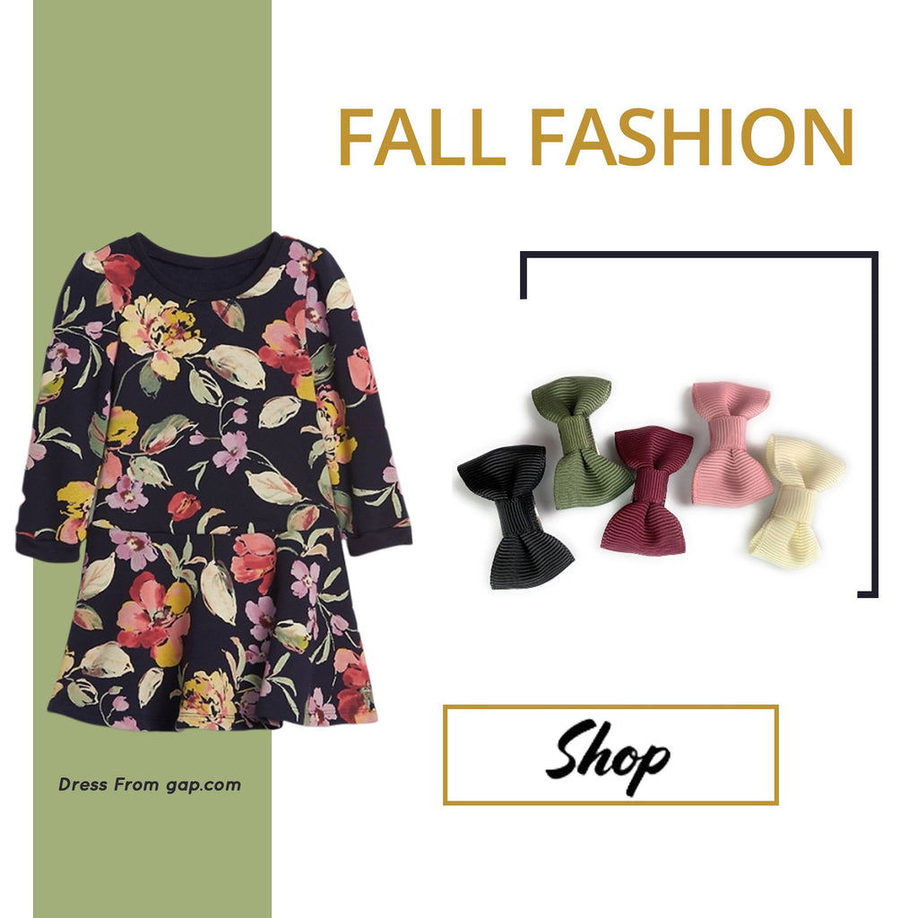 Fall Fashion for Baby Girl and the PERFECT fall hairbows!