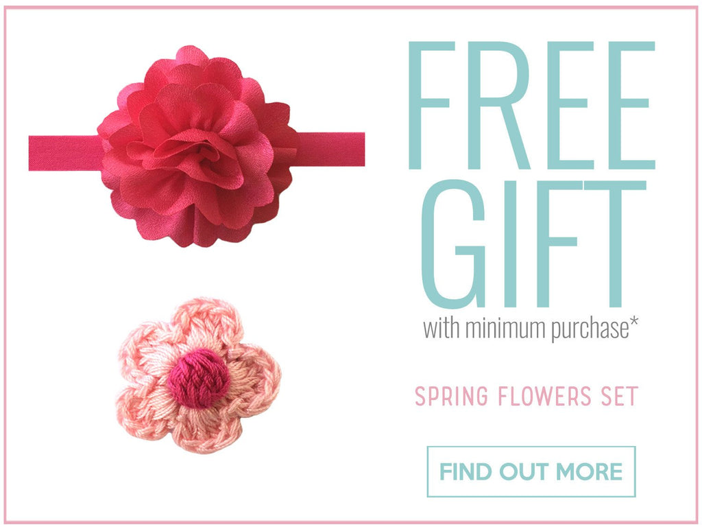 Spring Flowers Accessories Set FREE with minimum purchase