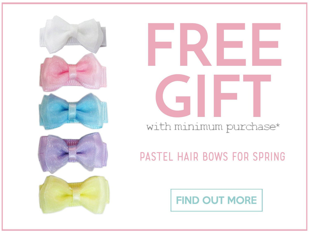 Pastel Hair Bow Collection FREE with minimum purchase