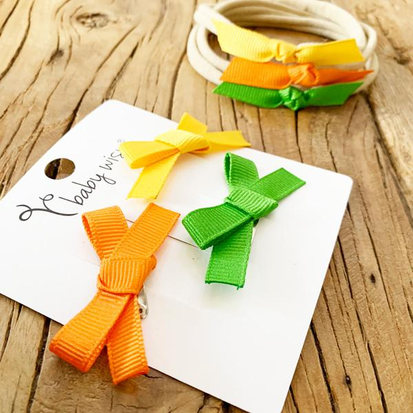 American Thanksgiving Inspired Bow Sets for Babies and Toddlers!