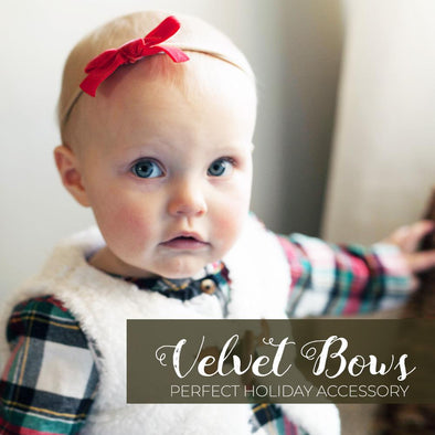 Velvet Bows for Babies and Toddlers are a Hot Trend This Season