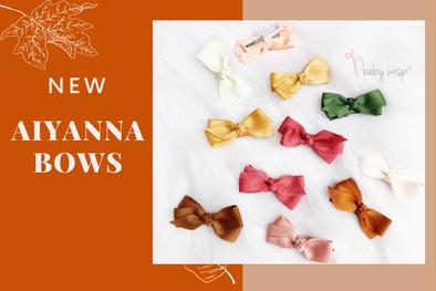 Introducing New AIYANNA BOWS - Boutique Ribbon Hair Bows on Alligator Hair Clips