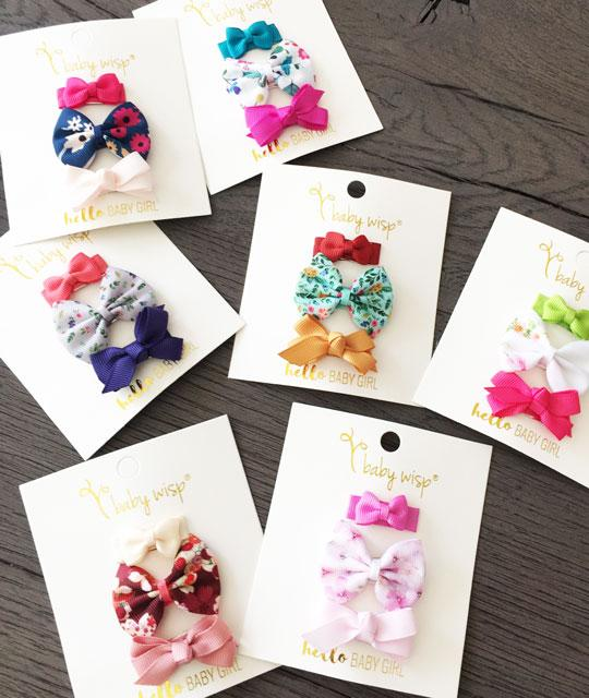 Beautiful Spring Bloom Inspired Baby Bow Collection