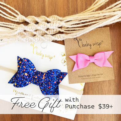 Sparkly Bow Headband and Baby Wisp Clip FREE GIFT with $39+ Purchase at Babywisp