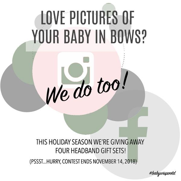 Love Pictures of Your Baby In Bows?  WE DO TOO!