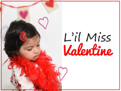 little miss valentine baby girl baby bows