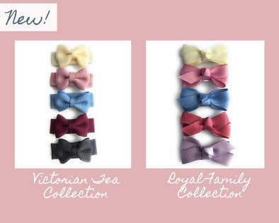 New Bow Collections: Royal Family and Victorian Tea Hair Bow Sets