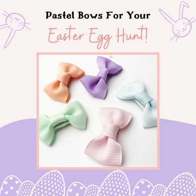 Pastel Hair Bows: Perfect For Your Easter Egg Hunt!