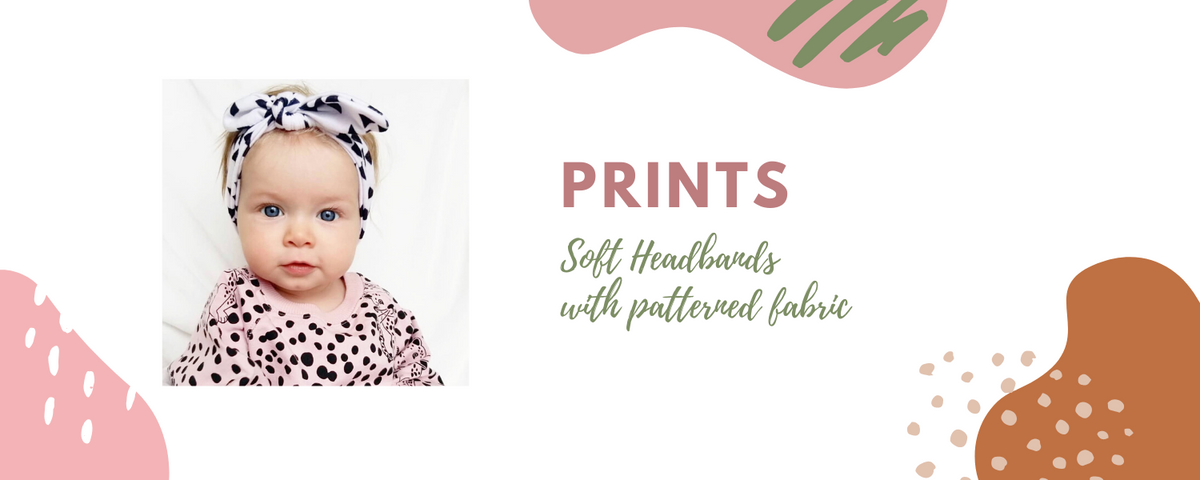 Prints and Patterns Headbands for Baby Girls and Toddler Girls
