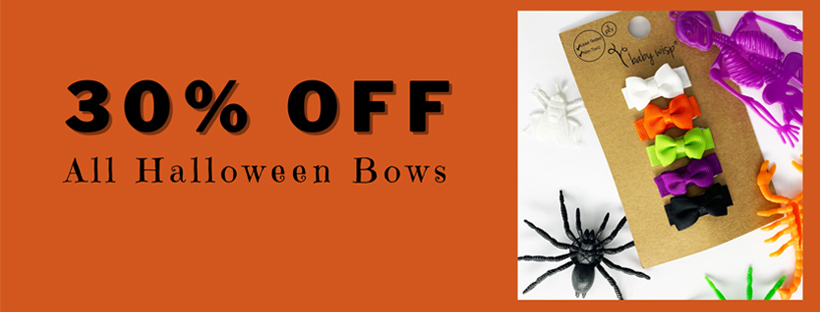 Halloween Hair Bows-Orange Bows You Will Love