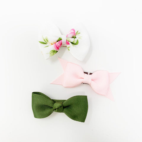 pretty spring bows for baby girl