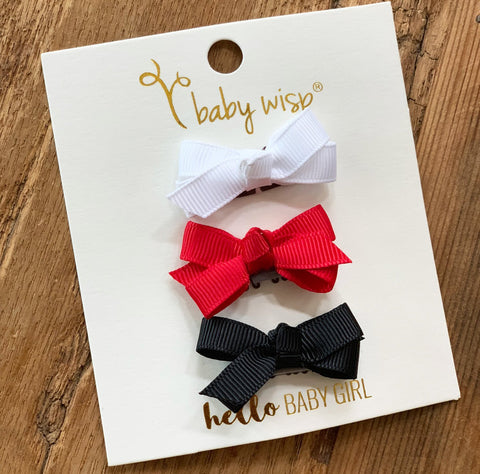 baby wisp holiday gift set 3 baby bows