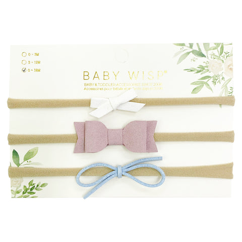 pastel baby bows