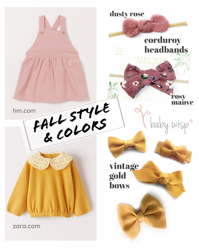 fall outfit and bow style for baby toddler girl fashion