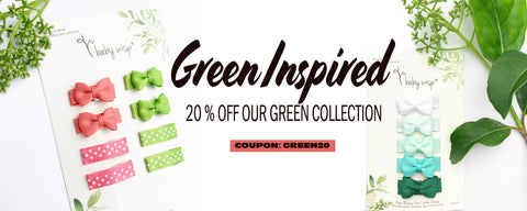green inspired bows on sale