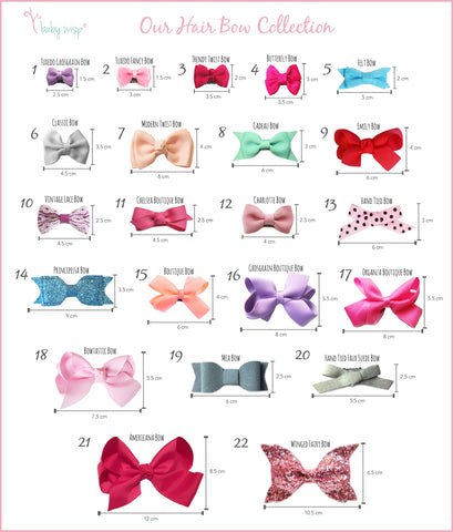 Baby Hair Bows Styles Ribbon Bows Baby Girl Toddler Girls Hand Tied Bows Boutique Bows