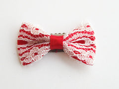 red lace bow vintage