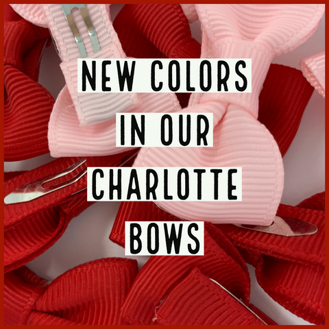 NEW CHARLOTTE GROSGRAIN HAIR BOW COLORS
