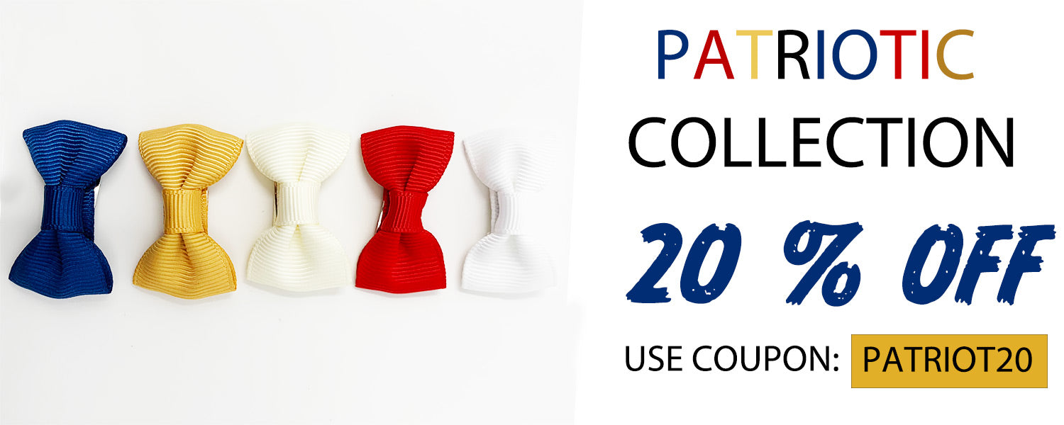 PATRIOTIC BOWS ON SALE WITH COUPON PATRIOT20