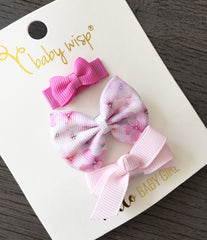 pink floral bows