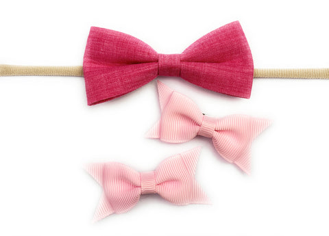 free valentine bow set with purchase of infant bows toddler bows at baby wisp