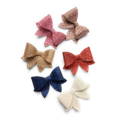 chloe chunky bow sparkle hair clips