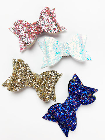 sparkly toddler hair bow hair clips just arrived