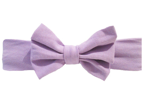 big bow baby headband lavender