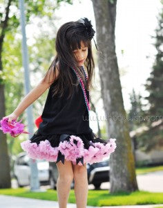 Black Tutu and Black Excess Hair Clip
