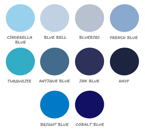 blue color swatches