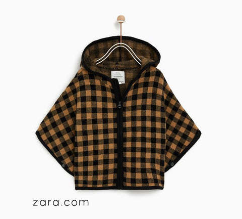 fall outfit zara poncho pairing