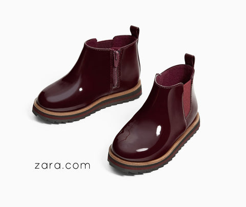 zara rain boots outfit pairing