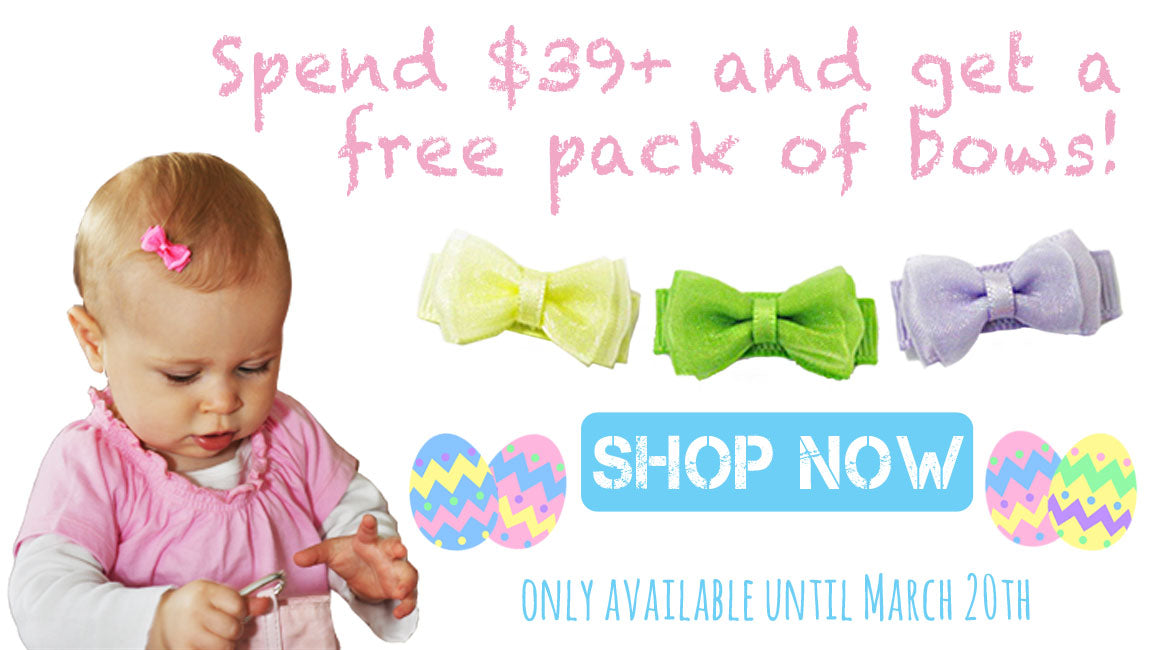 Free Easter Hair Bows