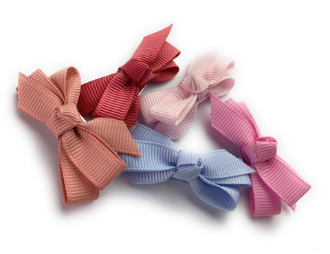 cute little grosgrain ribbon bows for babies and toddler girls